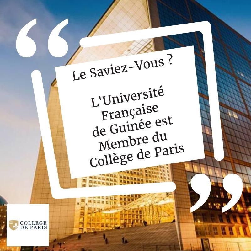 L'UFG membre du Collège de Paris